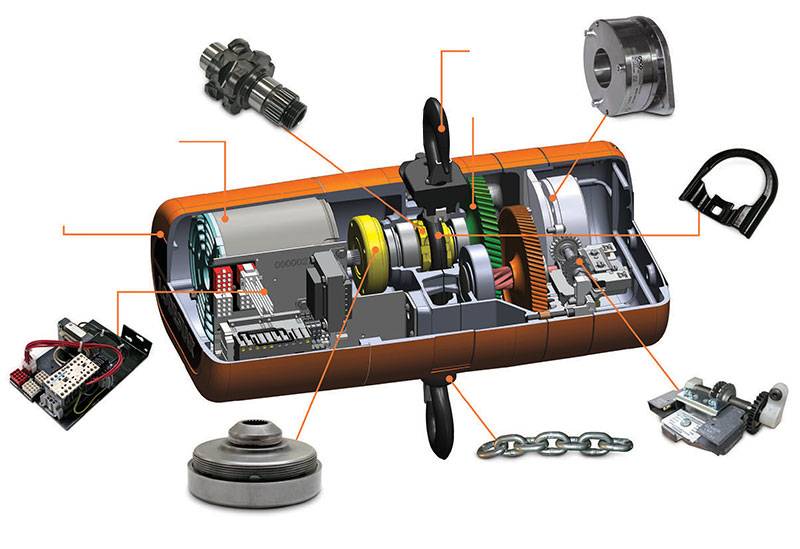 replacement parts hoist inside replacement parts budget 2 ton chain hoist wiring diagram at crackthecode.co